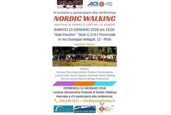 DOCEAT ti invita alla Conferenza Nordic Walking – Pisa 13 Gennaio 2018