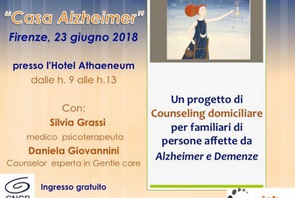 Casa Alzheimer – progetto di counseling domiciliare – 23 Giugno